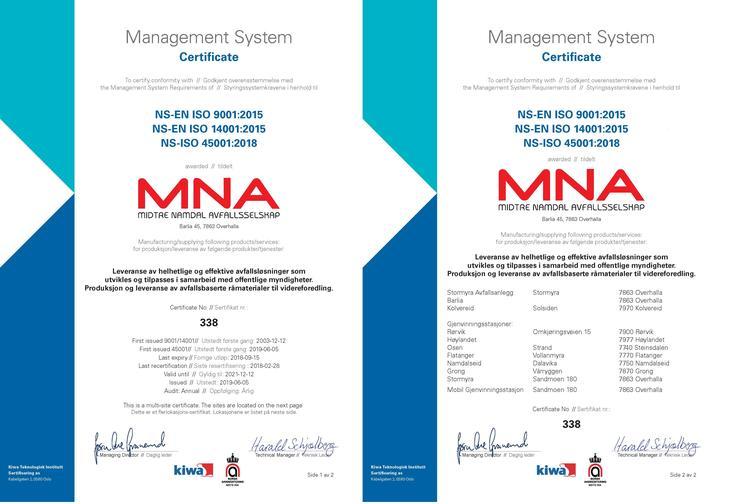 ISO sertifikater