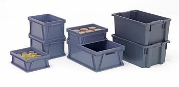 oppbevaringsbokser av resirkulert plast