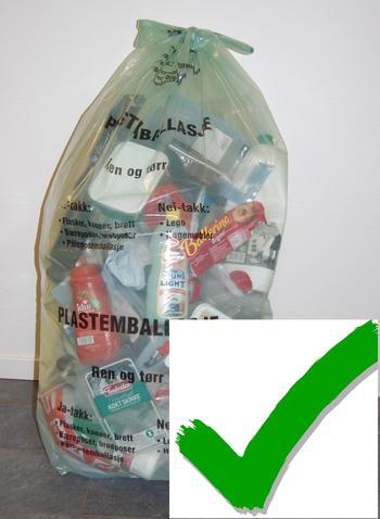 riktig bruk av plastavfallssekk