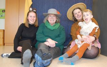 representanter fra Solbakken barnehage på Utvorda oppvekstsenter