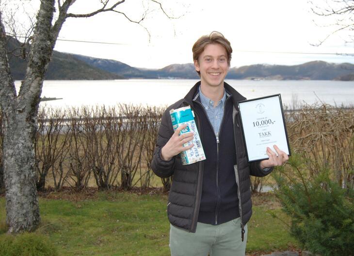Håkon Tangen vinner drikkekartonglotteiet