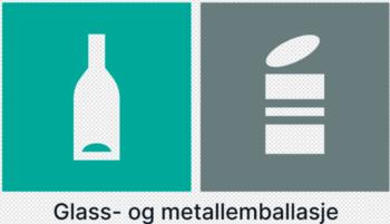 glass og metallemballasje