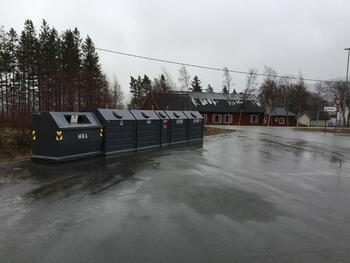 Hyttecontainere Salsnes ved brannstasjon